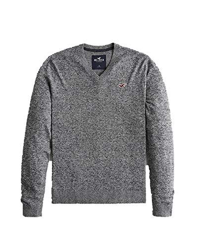 Hollister New Abercrombie Heather Grey Men's Sweater V Neck Jumper SZ Small/S
