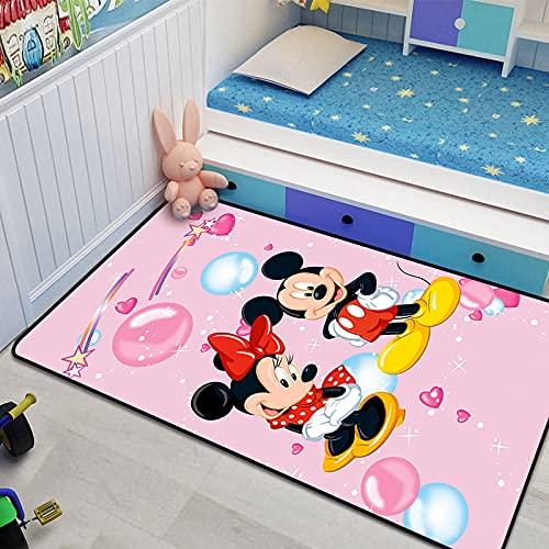 XuJinzisa Alfombra De Mickey Minnie Mouse, Alfombra con Estampado 3D De Franela, Alfombra Súper Suave para Sala De Estar, Alfombra para Habitación De Niños, 80X150Cm N8291