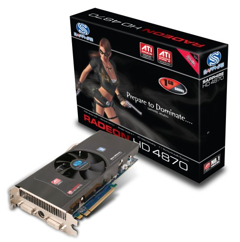 Sapphire ATI Radeon HD4870 Grafikkarte (PCI-Express, 1GB GDDR5 Speicher, Dual DVI, 1 GPU)