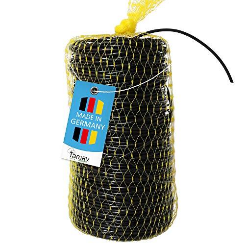 Tamay Hohlschnur Premium 100m Bindeschlauch Ø 3mm aus Kunststoff, im praktischen Netz Elastisches Bindematerial mitwachsend zum Anbinden von Ästen, Bäumen und Pflanzen