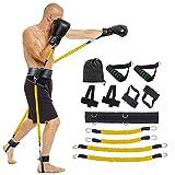 Lancoon - Traje de entrenamiento para entrenamiento de pierna de boxeo, balón de baloncesto, tubo de látex ágil entrenador para entrenamiento corporal, entrenamiento de fuerza, Amarillo, 11 g