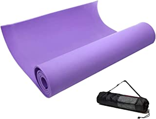 JUGROUPE TPE Yoga Mat with Carrying Bag and Strap, 6mm Thick Eco Friendly Non-Slip Exercise & Fitness Mat, 1/4 Inch Workou...