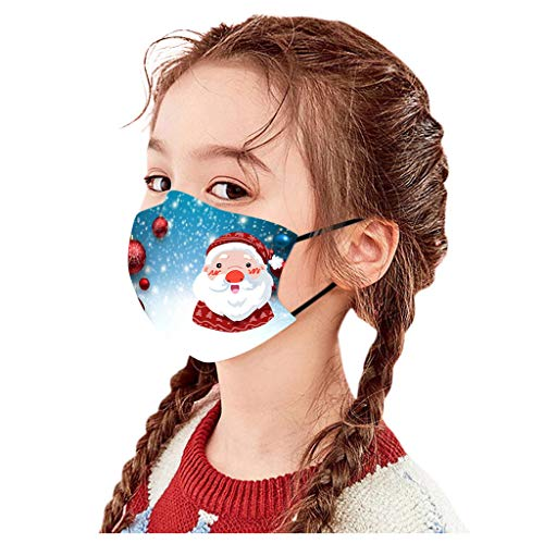 beautyfine Christmas Protection Face Covering for Boy and Girl, Merry, Cotton is Skin Friendly
