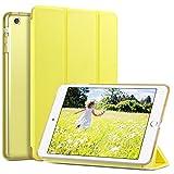 ULAK Funda para iPad Mini 1/2/3, [Serie Clásica] Carcasa Función de Despertador Automático Magnético y Sueño Smart Cubierta Trifold Soporte Caso para iPad Mini/iPad Mini 2/iPad Mini 3 - Limón amarillo