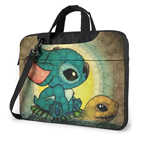 Laptop Sleeve Bag Lilo Stitch Tablet Briefcase Ultraportable Protective Canvas for 14 Inch MacBook Pro/MacBook Air/Notebook Computer
