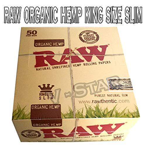 Scatola completa originale RAW. Raw Organic Hemp King Size (50)