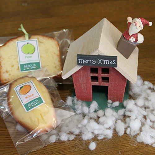 灯りが揺れる木製サンタハウスと和歌山産フルーツの焼き菓子クリスマスギフト