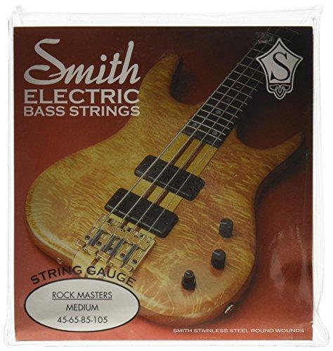 SMITH ELECTRIC BASS STRINGS MASTER SERIES AA-RMM Rock Masters Medium Stainless Steel Bass Guitar Strings, Medium