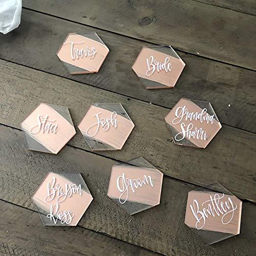 Transparente Acryl Tischkarten für Hochzeit oder Party - DIY - Blanko - Tischplatzierung Perfekt für Moderne Hochzeit, Brautparty, Bankettveranstaltungen 25 Teile