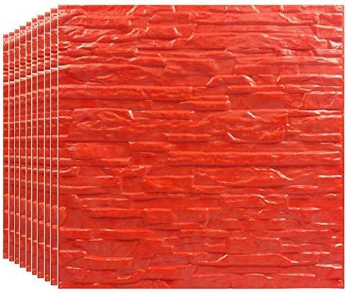 KUNYI 3D Paneles de Pared de ladrillo Pegatinas decoración de la Pared del Papel Pintado desprendible de Espuma PE Auto Adhesivo (Color : 15 Piece)