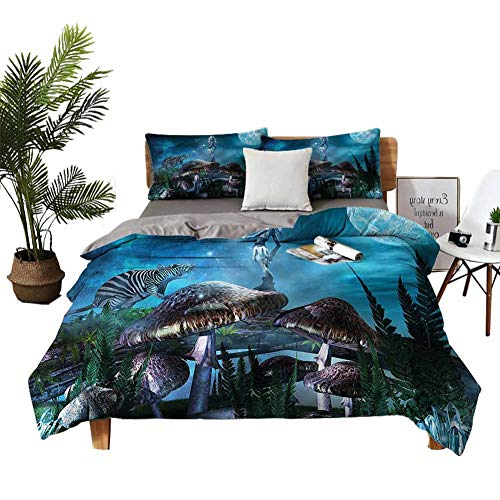 DRAGON VINES Home Textile Series bedding Elf Giant Rat Mushrooms King Size Sheets student dormitory W90 xL90