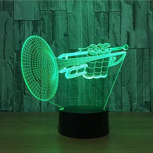3D Illusie Lampmusical Instrument Trompet Kinderen Volwassen Geschenken Huis Meubels