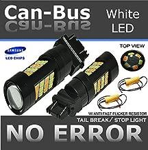 ICBEAMER 2 pcs 7444 7443 7441 7440 T20 Dual Color 42 LED Switchback & Resistor Avoid Hyper Flash [Color: White + Amber]
