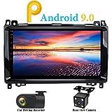 XISEDO Android 9.0 Autoradio 9' Voiture Radio Quad Core Car Radio Système de Navigation GPS pour Mercedes-Benz A-W169, B-W245, Viano, Vito, Sprinter (avec Caméra de Recul et DVR)