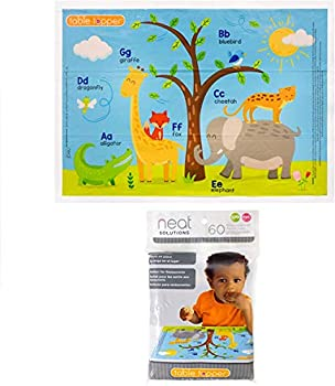 Neat Solutions Table Topper Disposable Stick-on Placemats in Reusable Package Gender Neutral 12  x 18  60 Count  Styles May Vary