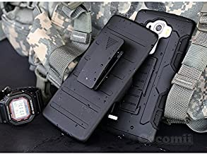 Cocomii Robot Armor LG G Vista 2 Case NEW [Heavy Duty] Premium Belt Clip Holster Kickstand Shockproof Hard Bumper Shell [Military Defender] Full Body Dual Layer Rugged Cover for LG G Vista 2 (R.Black)