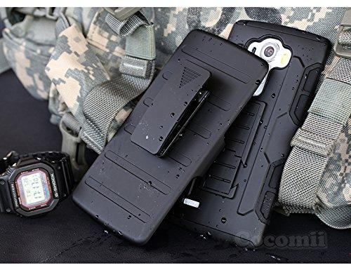 Cocomii Robot Belt Clip Holster LG G Vista 2 Case, Slim Thin Matte Kickstand Swivel Belt Clip Holster Reinforced Drop Protection Fashion Phone Case Bumper Cover for LG G Vista 2 (Black)
