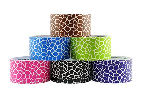 6 Roll Variety Pack of Decorative Duct Style Tape, Giraffe Tape, Each Roll 1.88 Inch x 5 Yards, Ideal for Scrapbooking - Decorating - Signage (6-Pack, Giraffe)