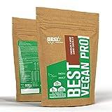 Best Protein Vegan PRO En Polvo con Proteínas de Cáñamo, Guisante, Arroz Orgánico, Calabaza Ecológica - 600 gr (Chocolate)