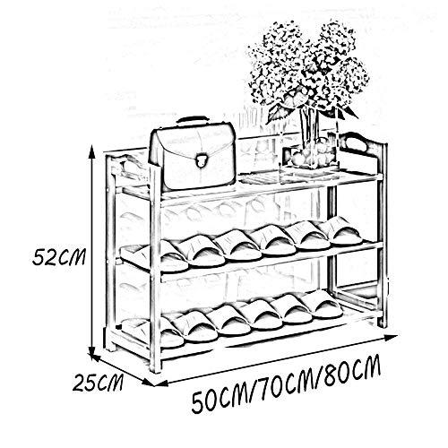 XCJ Schuhregal Schuhregal Massivholz Einfacher Mehrschichtiger Schuhschrank Einfacher preiswerter Staubbeweis-Raum-Schlafsaal-Wohnungs-Haus,70cm