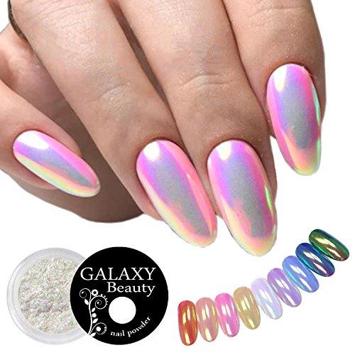Aurora Neon - Polvo con pigmento de purpurina para efecto de uñas, 0,5 g, diseño de color cambiante, arcoíris, sirena, perla y unicornio