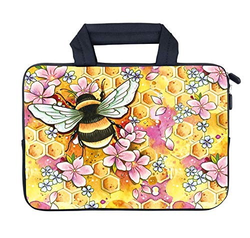 AMARY Laptop case 11.6' 12' 12.1' 12.5 inch Laptop Handle Bag Neoprene Notebook Carrying Pouch Chromebook Sleeve Ultrabook Case Tablet Cover Fit Apple MacBook Air HP DELL Lenovo Asus Samsung (bee)