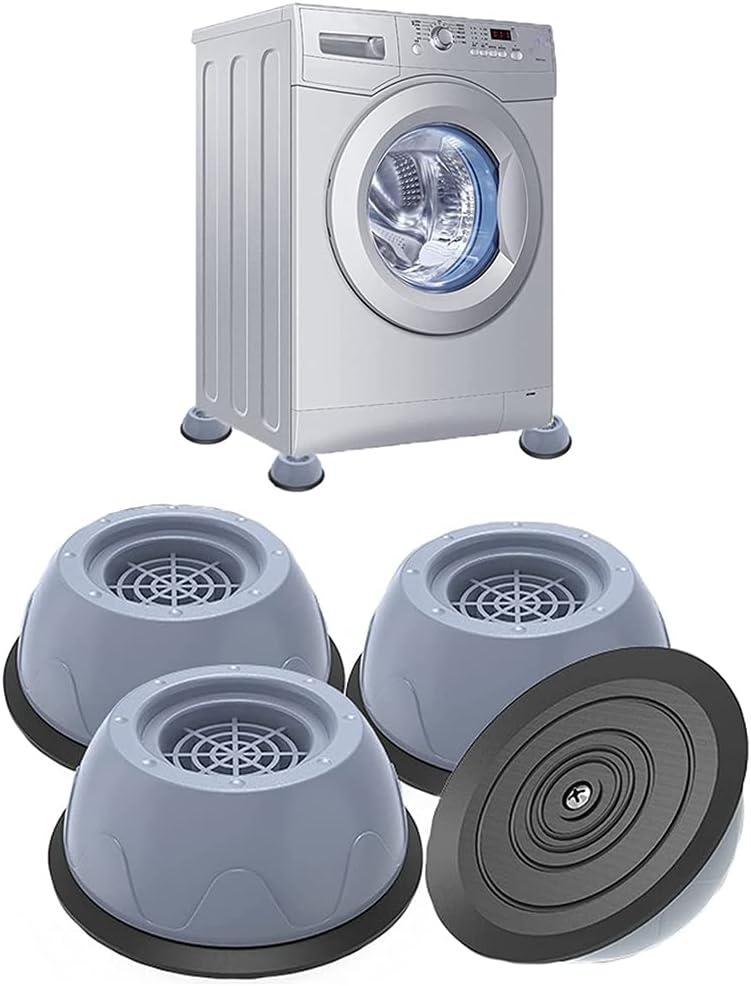 Pies de Lavadora - Almohadillas de Goma para Lavadoras 4 Piezas/Amortiguador de Vibraciones/Almohadillas Lavadora Universal/Soporte de Goma Antivibración,para Lavadoras Reducir Ruido y Vibración