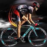 Bicicleta de carretera de fibra de carbono SAVA Shimano 3000, cambio de 18 velocidades