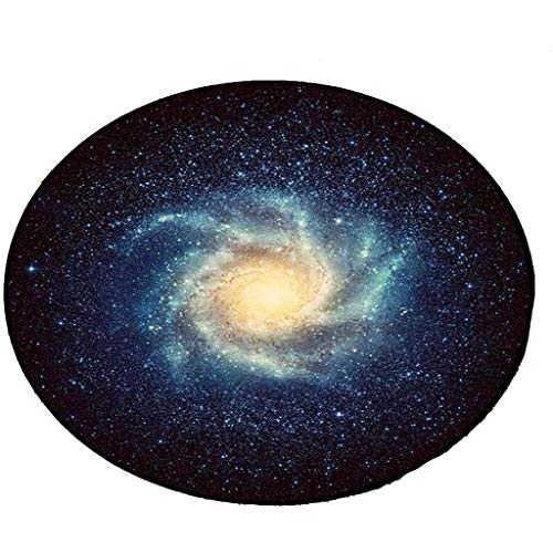 Carpets Carpet Mats Retro Round Carpet Starry Sky Earth Living Room Bedroom Tables And Chairs Non-slip Mats Bedside Blankets (Color : F, Size : 150cm)