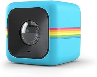 Polaroid Cube HD 1080P Lifestyle Action video kamera ile monte edilmiş şarj edilebilir batarya için 90dakika kadar çekim süresi–Hava şartlarına dayanıklı, darbeye dayanıklı & monte edilebilir–124° geniş açılı objektif POL-CUBELSBL