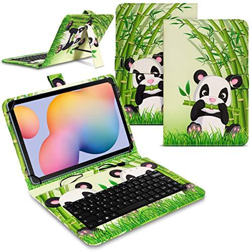 Tablet Hülle kompatibel für Samsung Galaxy Tab A7 2020 Tasche Tastatur Keyboard QWERTZ Schutzhülle Cover Standfunktion USB Schutz Case, Farben:Motiv 2
