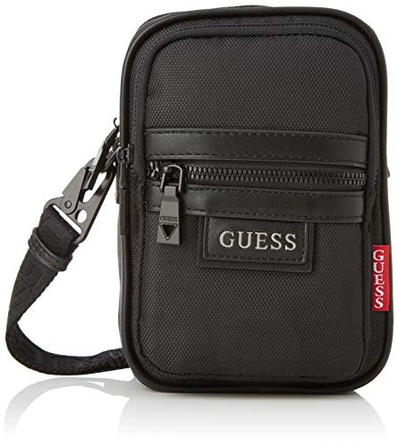 Guess Dan Multifnctnl Document Case, Bags Briefcase Hombre, Black, One Size