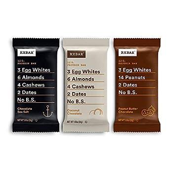 RXBAR Chocolate Variety Pack 2.0 Protein Bar High Protein Snack Gluten Free 1.83 oz Pack of 24