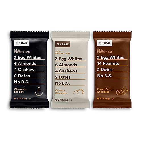 RXBAR, Chocolate Variety Pack 2.0, Protein Bar, High Protein Snack, Gluten Free, 1.83 oz, Pack of 24