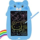GreBean LCD Writing Tablet,Doodle Board 9.0 Inch Colorful Drawing Board for Kids Erasable Electronic Drawing Tablet Educational Birthday Toys Gift for 3 4 5 6 7 8 Years Old Girls Boys Toddler (Blue)