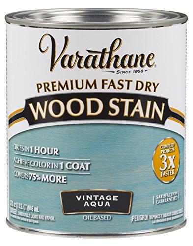 297427 Premium Fast Dry Wood Stain, Vintage Aqua, 32 oz