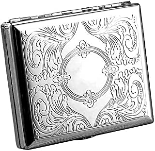 Cigarette case wallet Smoking accessory for box Retro Metal Cigarette Case Box - Yhouse Double Sided Spring Clip Open Pock...