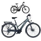FISCHER Damen Trekking E-Bike VIATOR 4.0i, Elektrofahrrad, grün matt, 28 Zoll, RH 44 cm,...