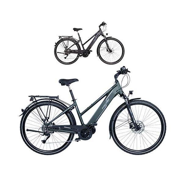 51ra+chZNEL. SS600  - FISCHER Damen - E-Bike Trekking VIATOR 4.0i, schwarz oder grün matt, 28 Zoll, RH 44 cm, Mittelmotor 50 Nm, 48 V Akku im Rahmen