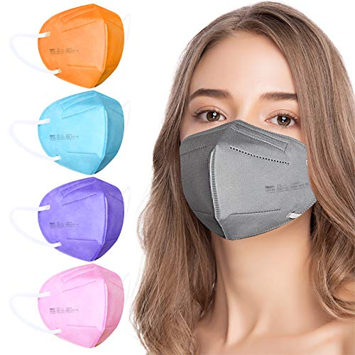 AHOTOP FFP2 Masken Bunt FFP2 Maske CE Zertifiziert 5 Farben 20 Stück,...