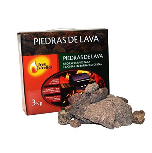 Piedras Volcánicas para Barbacoa, 3 kg | Rocas de Lava Perfectas para...