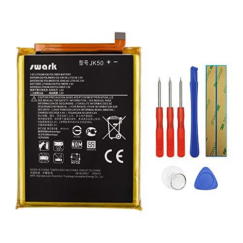 Swark Batería de repuesto JK50 compatible con Motorola Moto G7 Power XT1955/Moto One Power XT1942/Moto G8 Power Lite XT2055-2 con herramientas.