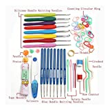 Ajustable Total de 16 tamaños de bricolaje Crochet Hooks agujas de tejer puntadas de ganchillo Caso Craft Set tejer Herramientas Herramientas de costura Kits de tejer Calidad ( Color : Multi-colored )