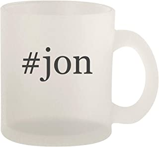 #jon - Glass 10oz Frosted Coffee Mug