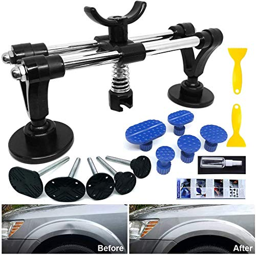 Dent Puller - Car Dent Repair Tool with Bridge Dent Puller and Dent Puller Tabs for Car Dent Removal, Door Dings and Hail Damage Dents, Minor Dent Removal
