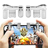KAAYA Mobile Phone Shooter Controller PUBG Game Trigger Gamepad Fire Button Handle Cell Phone Tablet Adapter for PUBG Gaming Joystick Gaming Accessory Kit Gaming Accessory Kit