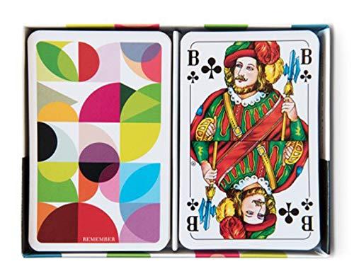 Remember   SP1   'Solena' Spielkarten   Spielkartenset je 2 x 55 Karten, inkl. 6 Joker   Farbe: Bunt