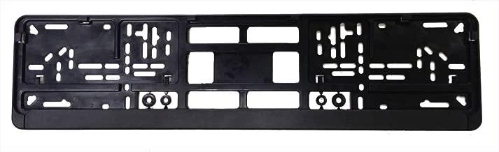 Standard Black Euro License Plate Holder - Universal Mounting Frame/Bracket