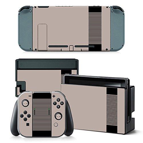 Nintendo Switch Skin Design Foils Faceplate Set - Retro NES Motivo