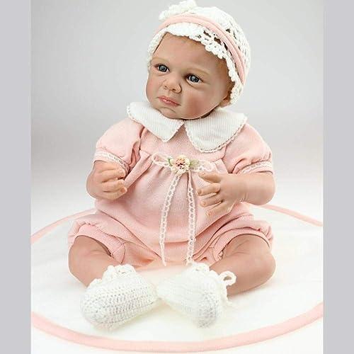 Rocking Horse Reborn Doll 22 Zoll Silikon - Neugeborene Lebensechte Safe Ungiftig Wasserdicht Magnet Schnuller Spielzeug Geschenk